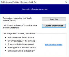 Install DiskInternals Partition Recovery on your PC.