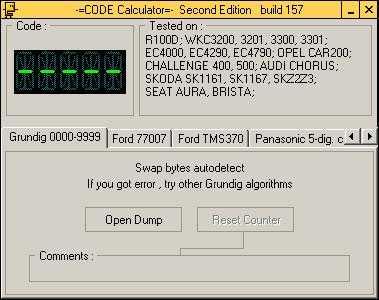 Магнитолы разблокировки калькулятор volkswagen штатной для Калькулятор Кодов